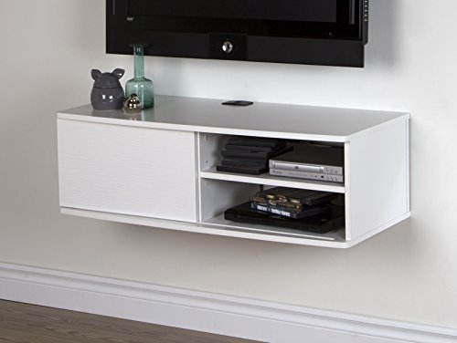 South Shore Agora Wall Mounted Media Console – Pure White