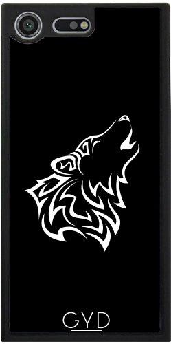 Funda Silicona para Sony Xperia XZ Premium - Lobo Blanco Y Negro Tribal by Nina Baydur