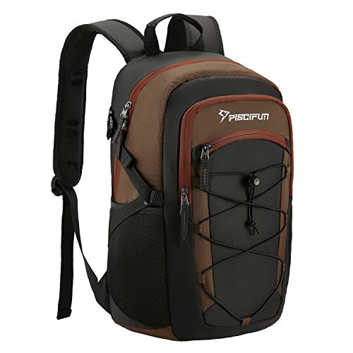 Mens Brown Ice - Piscifun Insulated Cooler Backpack, Leakproof Lightweight Cooler Bag, Soft Backpack Cooler for Men and Women Bag Cooler for Lunch, Picnic, Fishing, Hiking, Camping,Park, Day Trip Balck & Brown