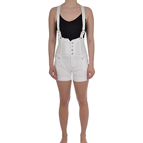 35bc4a1806f Miss Posh Womens Ladies Playsuits Dungarees Denim Hot Pants Shorts - White  - 10 - Buy Online in UAE.