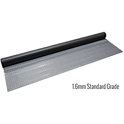IncStores Standard Grade Nitro Garage Flooring (5' x 12', Diamond Stainless Steel) Roll Out Floor Protecting Mats