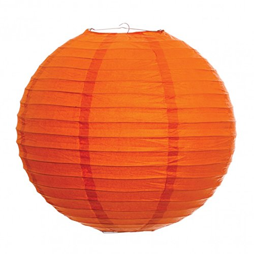 Koyal-18-Inch-Paper-Lantern-Mango-Orange