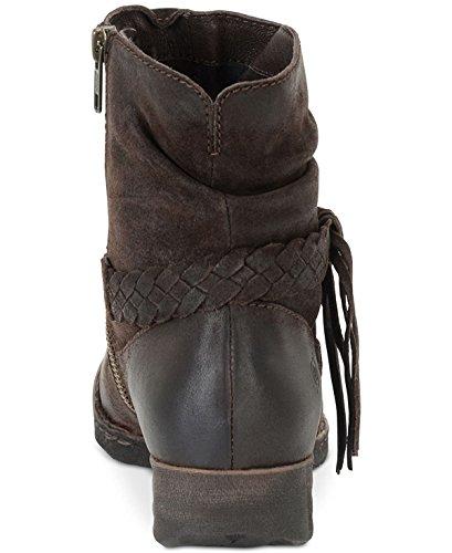 Closed Ankle Born Leather Womens Brown Dark Toe Boots Fashion Abernath rntWXqt