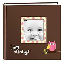 Pioneer Photo Albums EV-246FB/O Baby Owl Printed Designer Frame Cover Photo Album, 200-Pocket, Pink
