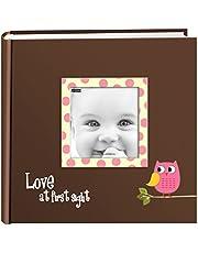 Pioneer Photo Albums EV-246FB/O 200-Pocket Baby Owl Printed Designer Frame Cover Photo Album