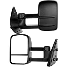 Side Mirror for 2007-2013 Chevy/gmc Silverado/sierra Manual Towing Mirror Pair (08 09 10 11 12 Models) Fits 62077-78g (Just Fit 07 New Body Style)