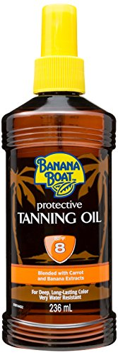 Banana Coconut Oil (Banana Boat Protective Tanning Oil Spray SPF 8 Sunscreen, 8 oz)