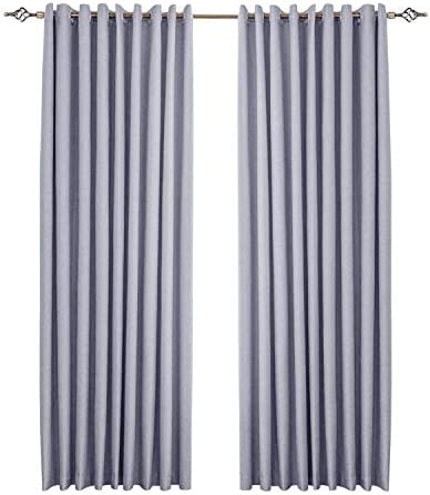 1 Piece Bedroom 100 Blackout Curtain Panels Super Thick Insulated Grommet Double Layer Blackout Draperies White Liner Grey Width 140 Length 160 Cm Buy Online At Best Price In Uae Amazon Ae