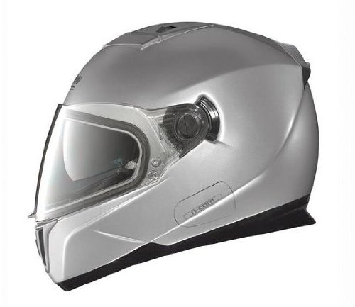 Nolan N86 Solid Colors Helmet (Platinum Silver, Small)
