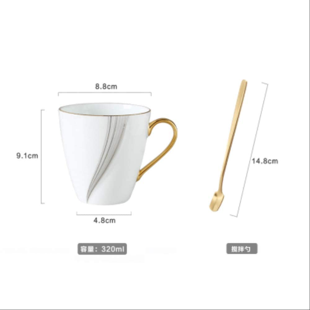 North European Coffee Cup Simple Bone China Cup and Saucer English ...
