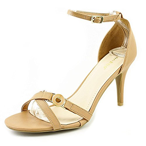 Bamboo Stiletto (Bamboo Women's Tully Stiletto Heeled Open Toe Dress Sandal Shoes (8.5, Natural))