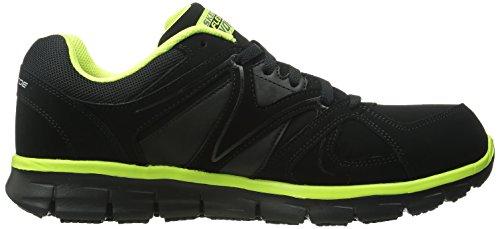 Skechers for Work Men's Synergy Ekron Work Shoe,Black/Lime,11 W US by Skechers (Image #6)