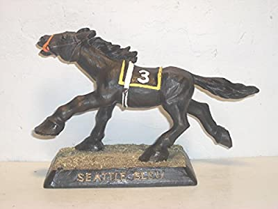 Kentucky Derby And Triple Crown Winner Seattle Slew Bobble Head In Box Sealed!