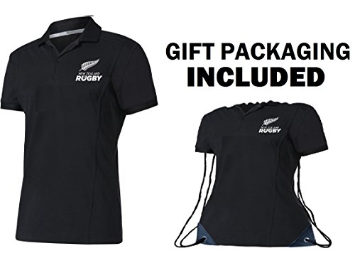 Fan Kitbag New Zealand All Black Rugby Jersey Home ✮ Short Sleeve ✮ Bonus All Black Rugby Jersey Shape Drawstring Backpack Gym Bag by (XL, Home Short Sleeve)