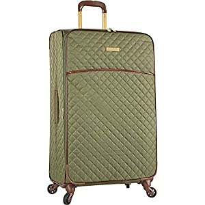 "Anne Klein 29"" Expandable Softside Spinner Luggage, Olive Quilted"