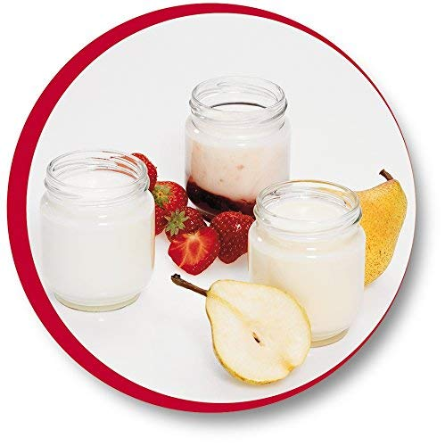 Moulinex A14A03 Yogurta 7 vasetti con coperchi bianchi