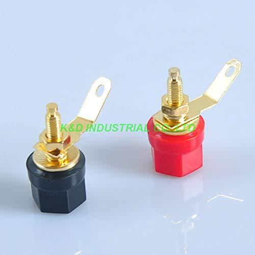 - Jammas 10pairs Gold Plate Tube Amp Terminal Binding post 4mm Banana Jack Red and Black - (Standard: Female)