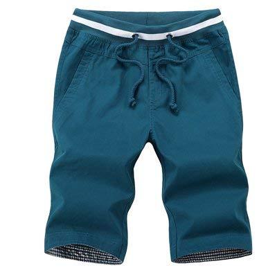 De Cortos Hombres Playa Marca Moda Verano Pantalones Algodón Mode Verde Tableros Fitness d5gqxWwUf