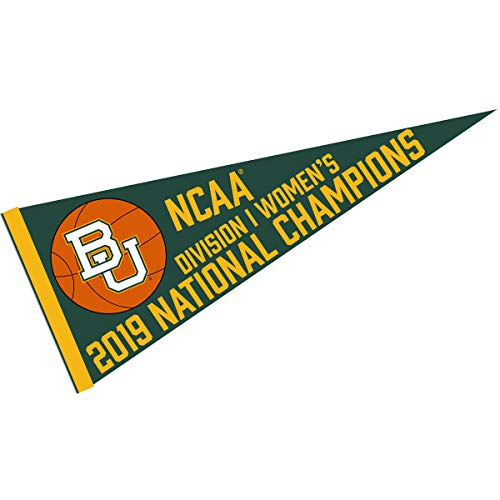 (College Flags and Banners Co. Baylor Bears 2019 Womens NCAA Basketball Champions Pennant)