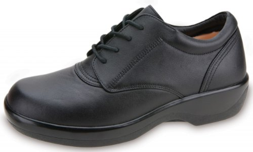 Apex Women's Lace Conform Oxford Black Full Grain 9.5 XW by Apex