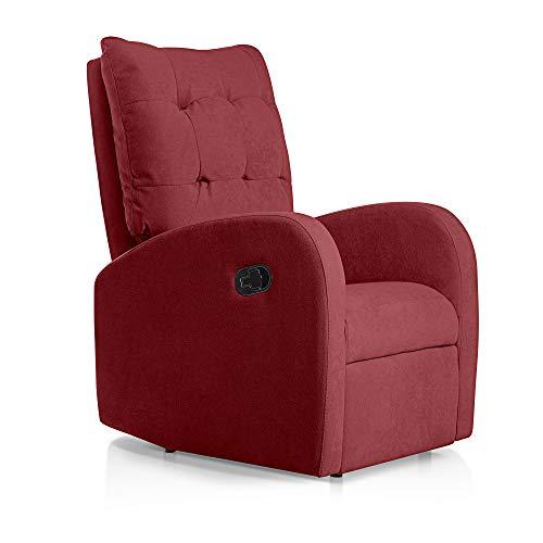 SUENOSZZZ-ESPECIALISTAS DEL DESCANSO Sillon Relax reclinable Soft tapizado Tela Antimanchas Color Rojo | Sillon reclinable butaca Relax | Sillon ...