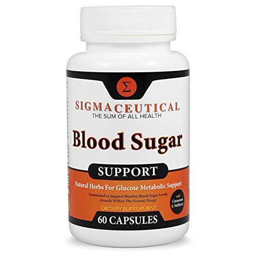 Premium Blood Sugar Support Supplement - Normal Blood Glucose Control & Natural Weight Loss - Vitamin and Herb Extract Formula w/Guggul, Mulberry Extract, Vanadium & Gymnema Sylvestre - 60 Capsules (Foods To Lower High Blood Pressure Immediately)