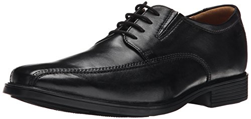 Black Mens Oxford (Clarks Men's Tilden Walk Oxford, Black Leather, 8.5 M US)
