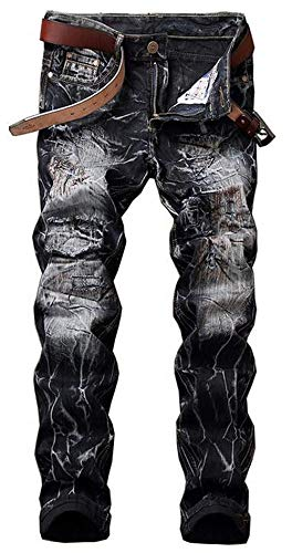 Estilo Dritti Original Pants Uomo Blackwhite Cotton Da Cowboy Jeans Slim Pantaloni Casual Retro Simplicity Denim Especial 1XRqvnBww