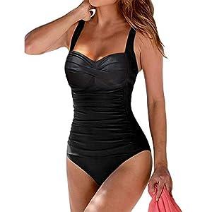 Flora Florida Women's One Piece Swimsuits Tummy Control Monokini Swimming Bathing Suit Vintage Swimwear