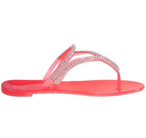 Modische Damen Zehentrenner rot
