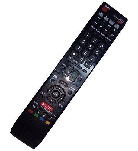 Replaced Remote Control Compatible for Sharp LC-70LE745 LC-70LE640U LC60LE830U LC70LE735UN LC-60LE633U AQUOS LED LCD HD TV with NETFLIX 3D Button -  JustFine