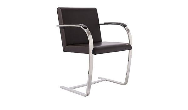 Brno Stuhl replica mies der rohe brno chair premium version black amazon