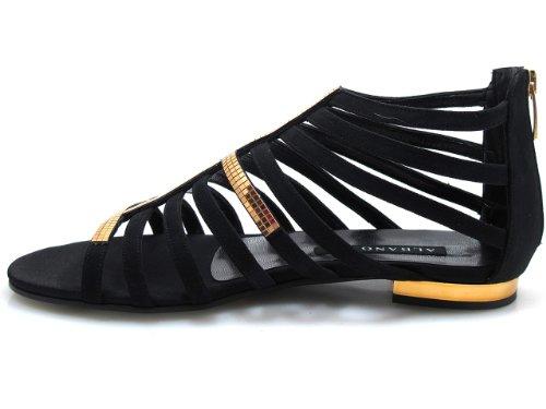 Albano 3084 Womens Flat Dressy Strappy Glitret Sandal