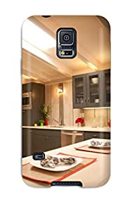 New Cute Funny Gray Kitchen Cabinets And Nickel Hardware In Kitchen Case Cover/ Galaxy S5 Case Cover
