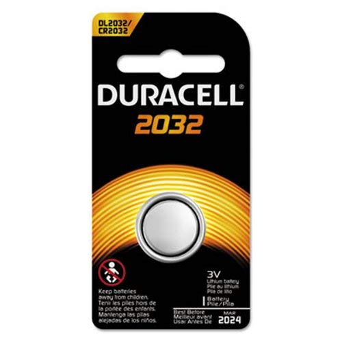 Duracell DL2032BPK Button Cell Lithium Electronics Battery, 2032, 3V, 6/Box - Chase Watch Box