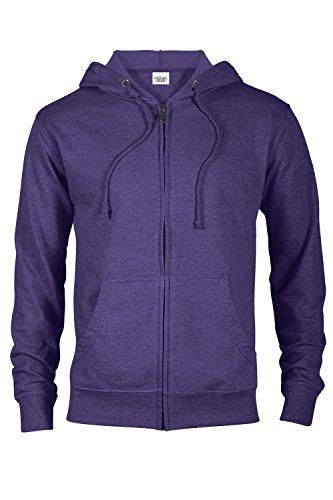 Purple Fleece Hoodie (Casual Garb Hoodies for Men Heather French Terry Full Zip Hoodie Hooded Sweatshirt Purple Heather Medium)