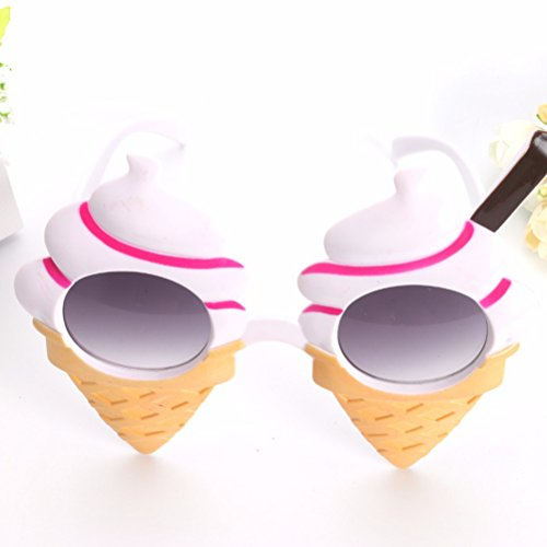 OULII Ice Cream Summer Sunglasses Costume Glasses Props Funny Novelty Party ()