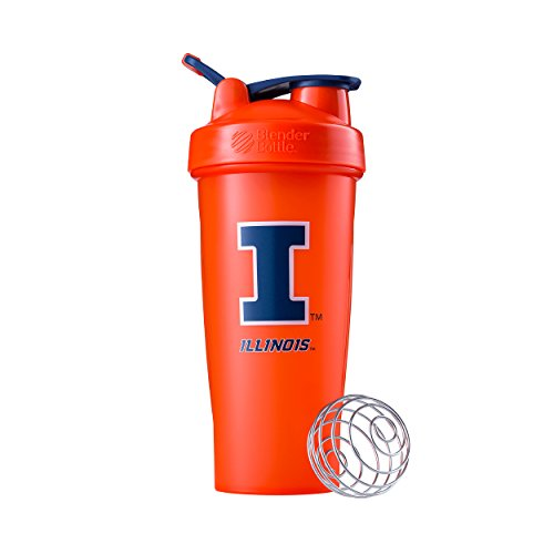 (BlenderBottle Collegiate Classic 28-Ounce Shaker Bottle, University of Illinois Fighting Illini -)