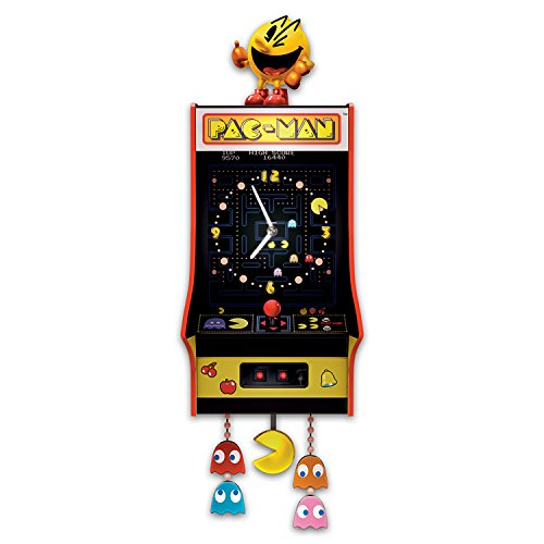 Pac-Man Clock with Classic Arcade Game Music: Lighted Wal...