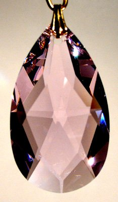 (Swarovski 38mm Rosaline Crystal Oval Drop Prism)