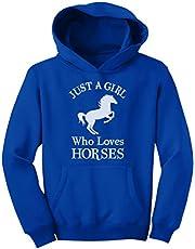 Tstars A Girl Who Loves Horses Horse Lover Gift Girls' Youth Hoodie