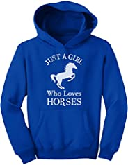 Tstars A Girl Who Loves Horses Horse Lover Gift Girls' Youth Ho