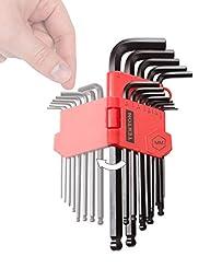 TEKTON 25272 13-pc. Long Arm Ball Hex Key Wrench Set, Metric