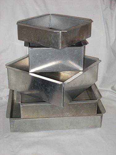 5 Pc. Set - Magic Line Heavy Aluminum Cake Baking Pan - USA