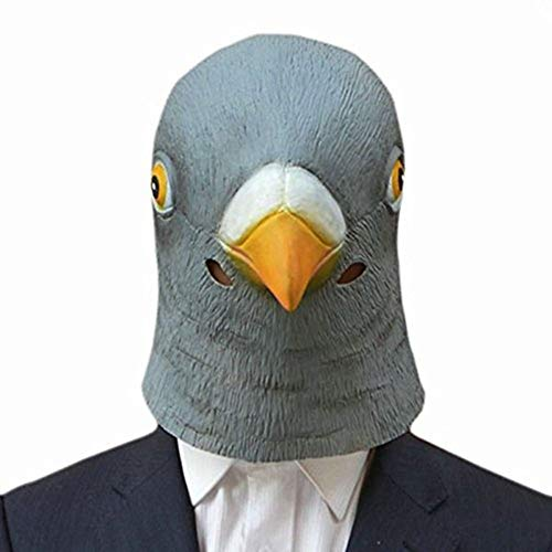 Party Masks - Pigeon Mask Latex Giant Bird Head Halloween Cosplay Costume Theater Prop Masks - Toys Pigeon Masks Head Kids Adults Latex Mask Party Masks Latex Mask Halloween Doctor Bird Uni ()