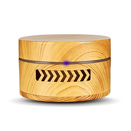 GKCD Aromatherapy Machine, car Oil Diffuser Vibration Switch humidifier air Purifier for car Home Office Bedroom Baby Sleep Room, 2 Colors Optional,lightwoodgrain