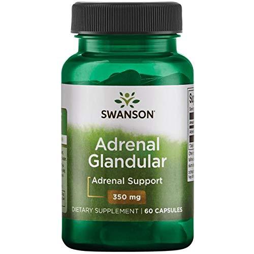Swanson Adrenal Glandular 350 mg 60 Caps Adrenal Support 60 Caps