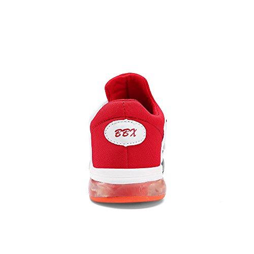 VILOCY Unisex Kinder USB Lade LED Aufhellen Jungen Mädchen Leuchtend Sneaker 6 Farbe Rot EU35