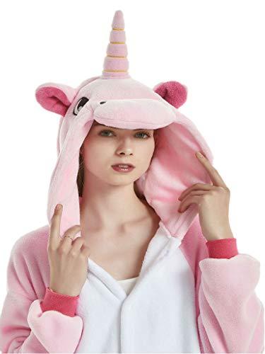 Adult Onesies for Women Men Teens Unicorn Pajamas Animal Costume One Piece Onsie -