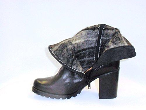 Stiefelette schwarz Nappa 654, Gr. 34